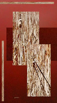 Cattails on Crimson by Gretchen Wrede