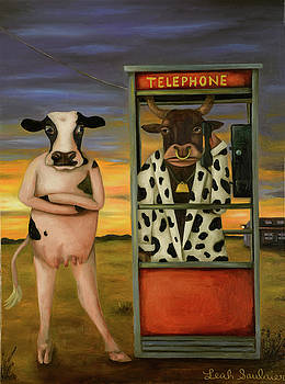 Leah Saulnier The Painting Maniac - Cattle Call