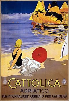 Cattolica Adriatico, travel poster 1925 by Vintage Printery