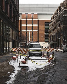 Caution - St. Louis Street by Dylan Murphy