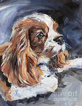 Cavalier King Charles Spaniel by Maria's Watercolor