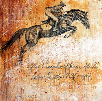 Cavallo Contemporary Horse Art by Jennifer Morrison Godshalk