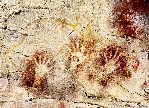 Weston Westmoreland - Cave of El Castillo Hands and Bison 2