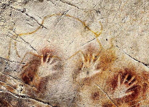 Weston Westmoreland - Cave of El Castillo Hands and Bison
