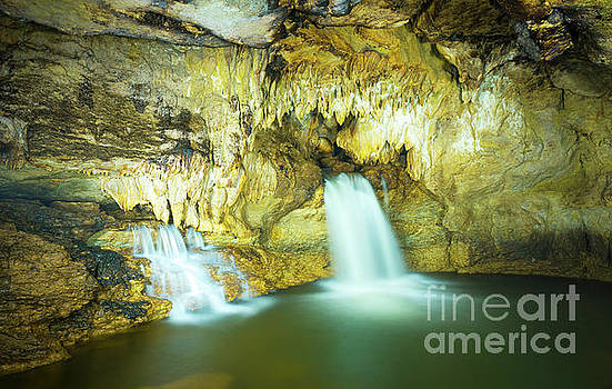 Cave of Misol Ha Waterfall Chiapas by Tim Hester