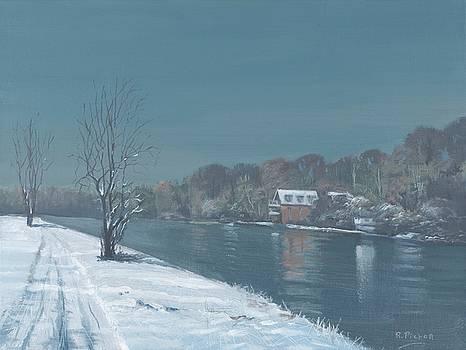 Caversham Promenade Winter by Richard Picton