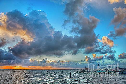 Caye Caulker Sunrise by David Zanzinger