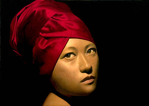 Caz with turban by Toby Boothman