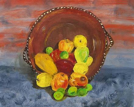 Cazuela de frutas by Sylvia Riggs