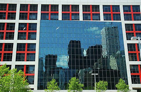 Reimar Gaertner - CBC building TV screen of downtown highrises