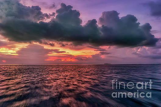 Cebu Straits Sunset by Adrian Evans