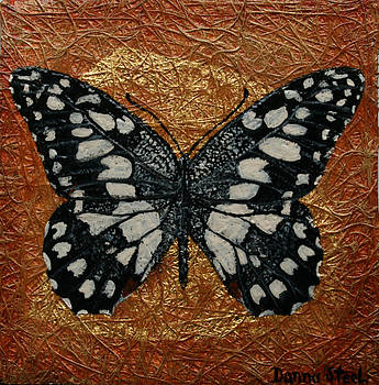 Ceckered Swallowtail Butterfly by Donna Steel