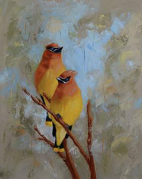 Cedar Waxwings by Monica Burnette