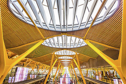 Ceiling Windows Madrid Airport by Gary Gillette