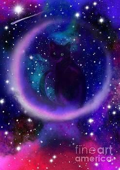 Nick Gustafson - Celestial Crescent Moon Cat