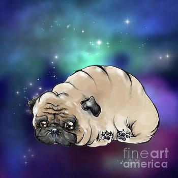 Celestial Pug by Angel Ciesniarska