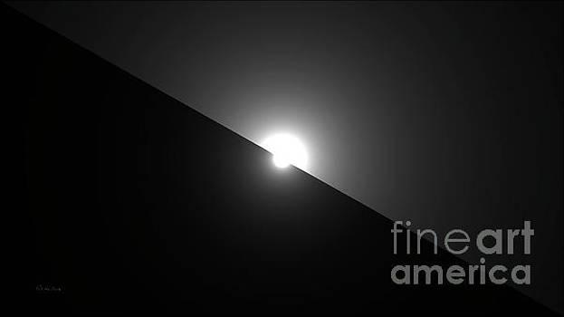 Ricardos Creations - Celestial Sunrise Digital Art 3 Black and White