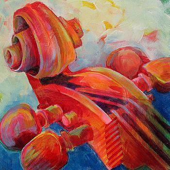 Cello Head in Red by Susanne Clark