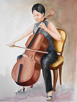 Cello Player by Engin Yuksel