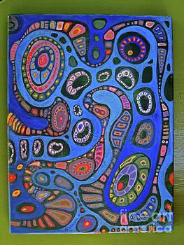 Cellular Fantasy in Blue by Anne Havard