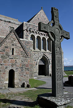 Celtic Cross, Iona, Scotland by Jacqi Elmslie