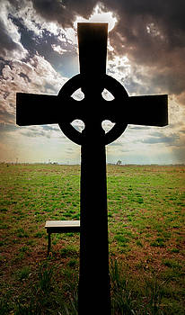 Celtic Cross Silhouette by Brian Wallace