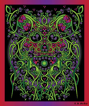 Celtic Artist Angela Dawn MacKay - Celtic Day of the Dead Skull