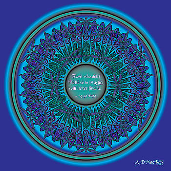Celtic Dragonfly Mandala by Celtic Artist Angela Dawn MacKay