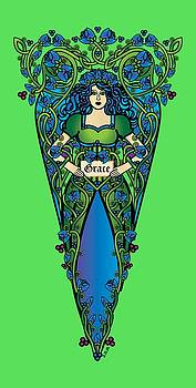 Celtic Forest Fairy- Grace by Celtic Artist Angela Dawn MacKay