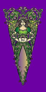 Celtic Forest Fairy - Joy by Celtic Artist Angela Dawn MacKay