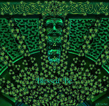 Celtic Green Man by Celtic Artist Angela Dawn MacKay