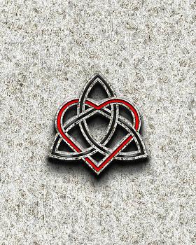 Celtic Knotwork Valentine Heart Bone Texture by Brian Carson