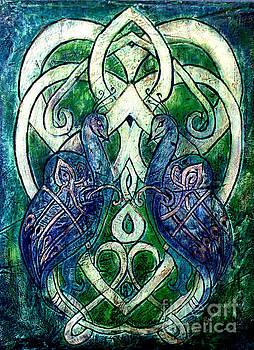 Celtic Peacocks by D Renee Wilson
