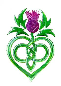 Celtic Thistle by Carol Blackhurst