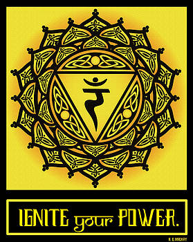 Celtic Tribal Solar Plexus Chakra by Celtic Artist Angela Dawn MacKay