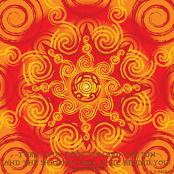 Celtic Tribal Sun by Celtic Artist Angela Dawn MacKay