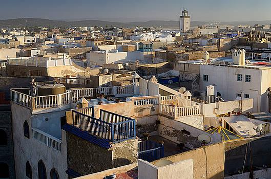 Reimar Gaertner - Cement work overlooking rooftops of houses in Essaouira Morocco