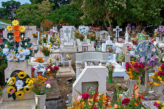 Cemetery in Mexico by Jim Walls PhotoArtist