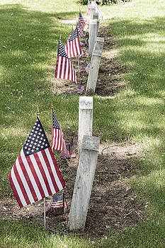 James BO  Insogna - Cemetery Tombstones Marked with American Flags