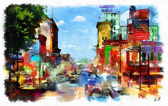 Central Avenue in Albuquerque  by Sergey Lukashin