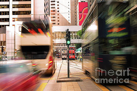 Central District Rush Hour - Hong Kong by Chris Smith
