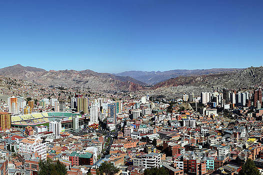 Central La Paz Below Killi Killi Mirador Bolivia by James Brunker