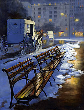 Central Park Carriage Ride by Janet Ternoff