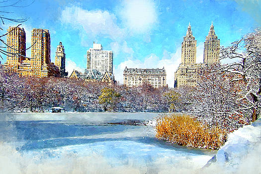 Central Park in Winter by Kai Saarto