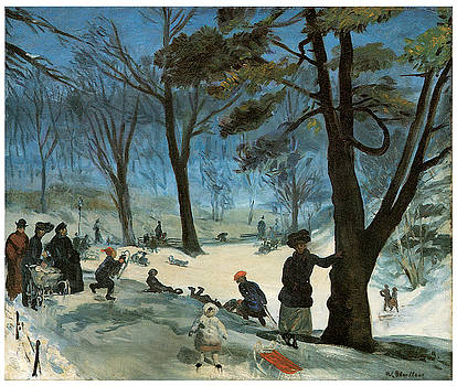 William Glackens - Central Park in Winter