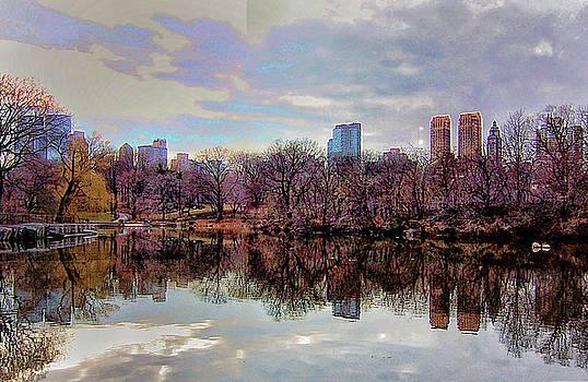 Central Park Skyline Reflection by Jeri Sawall