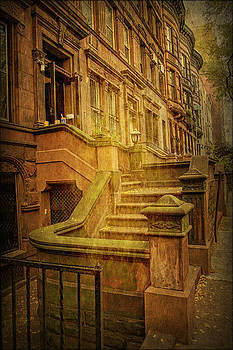 Central Park West Brownstones by Geraldine Scull