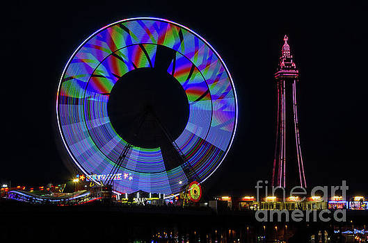 Central Pier Blackpool by Steev Stamford