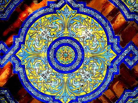 Ceramic Ceilng Moorish Castle by Ted Hebbler