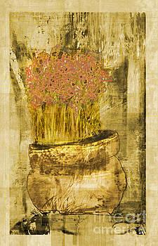 Ceramic Flower Jar by Gabrielle Schertz